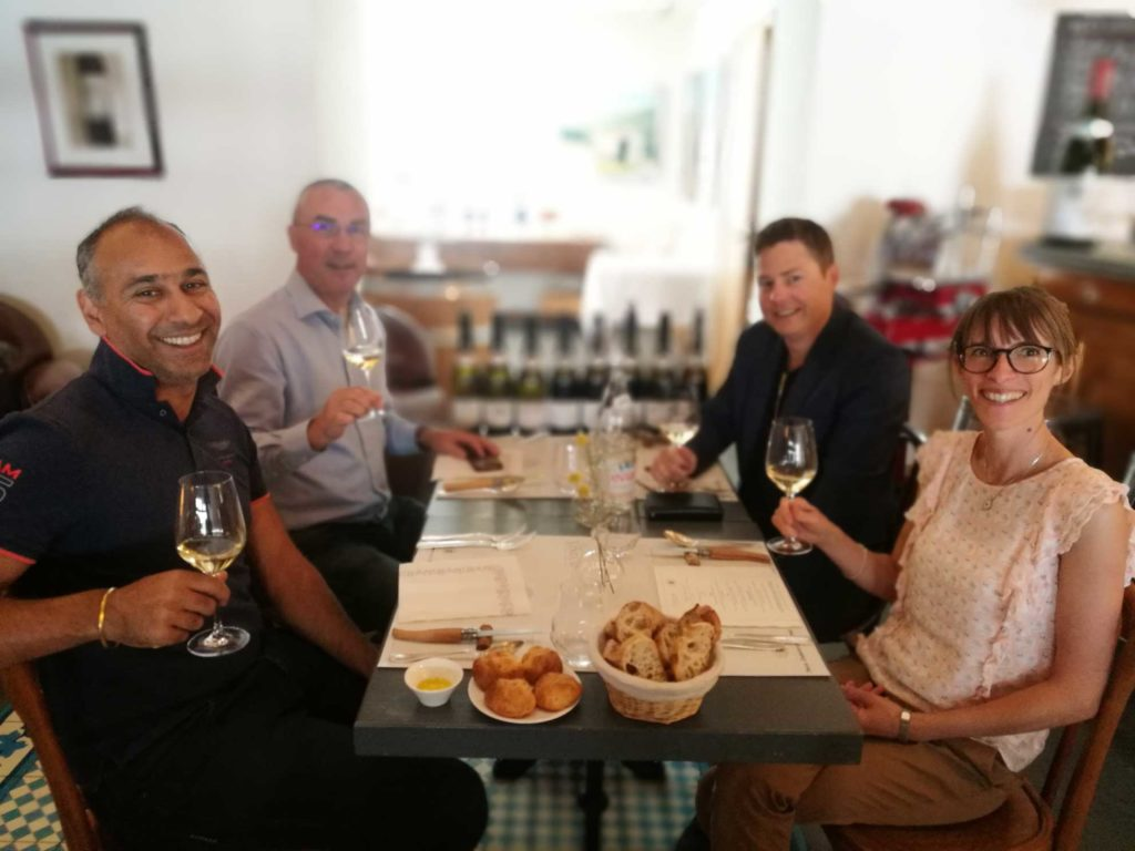 Puneet Dhall and Brandon Nash wine tasting at Paul Jaboulet Aine