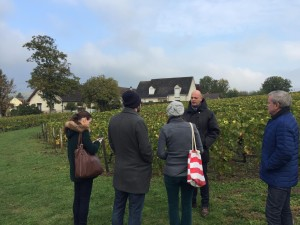 Le Clos St Hilaire - Billecart ambassador Jerôme explaining what it is that makes this parcel so special