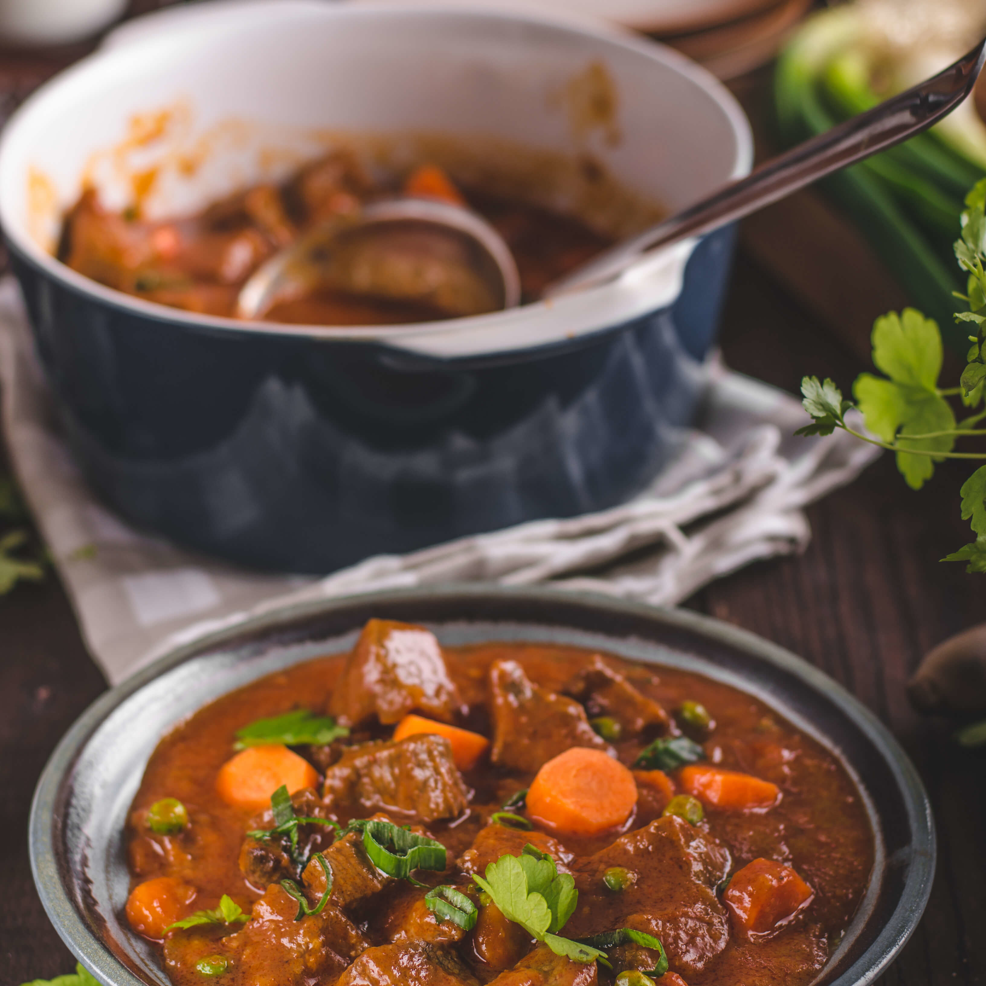Beef stew with Chateau Climens wine