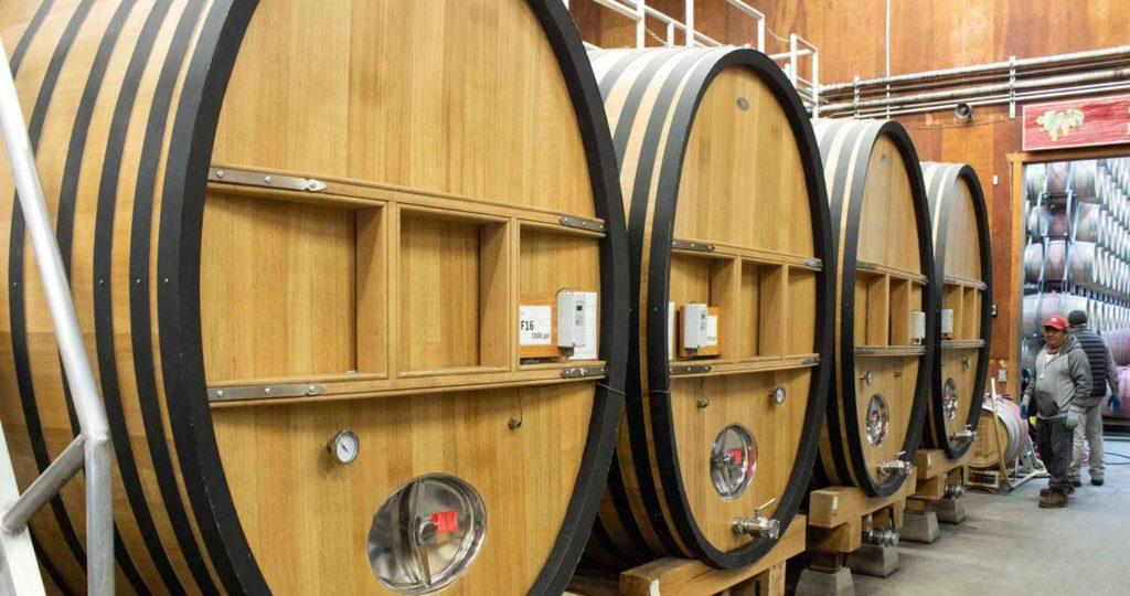 Wine barrels at Grgich Hills Estate