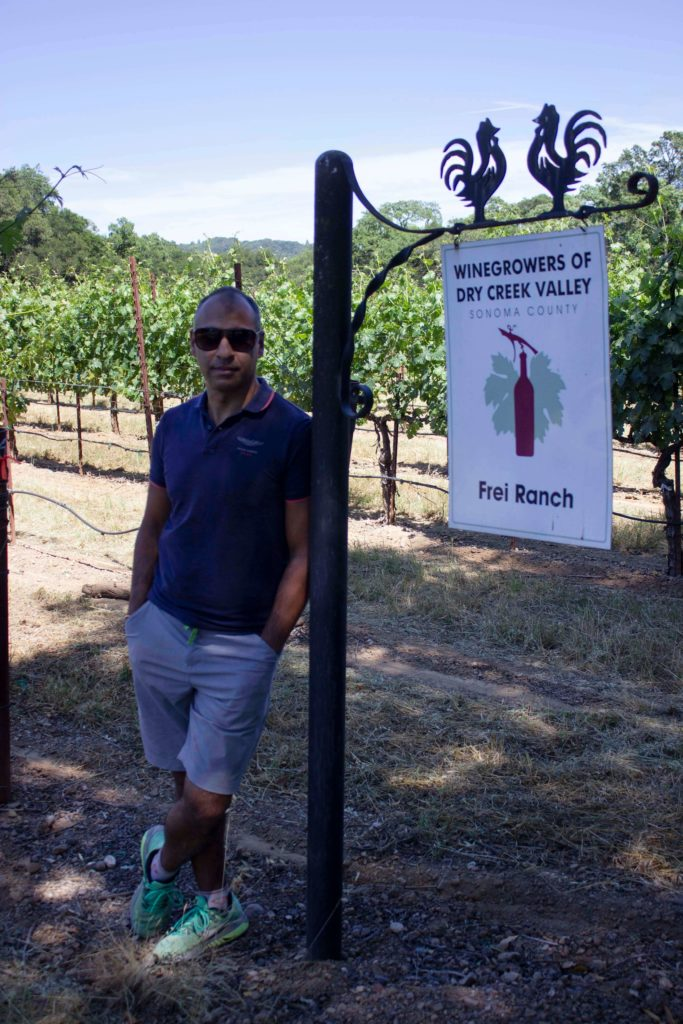 Puneet Dhall at Frei Ranch, Sonoma County, California
