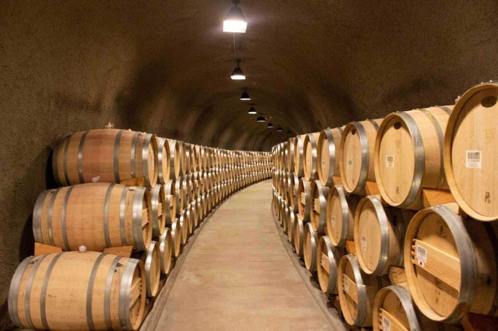 Stag's Leap Wine Cellars barrel room