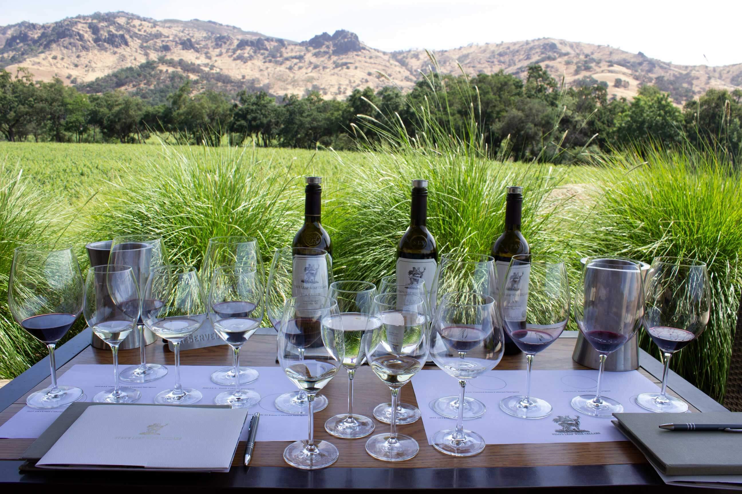 Stag's Leap Wine Cellars wine tasting