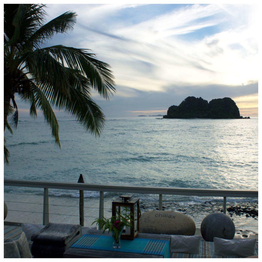 Vomo Island beach view