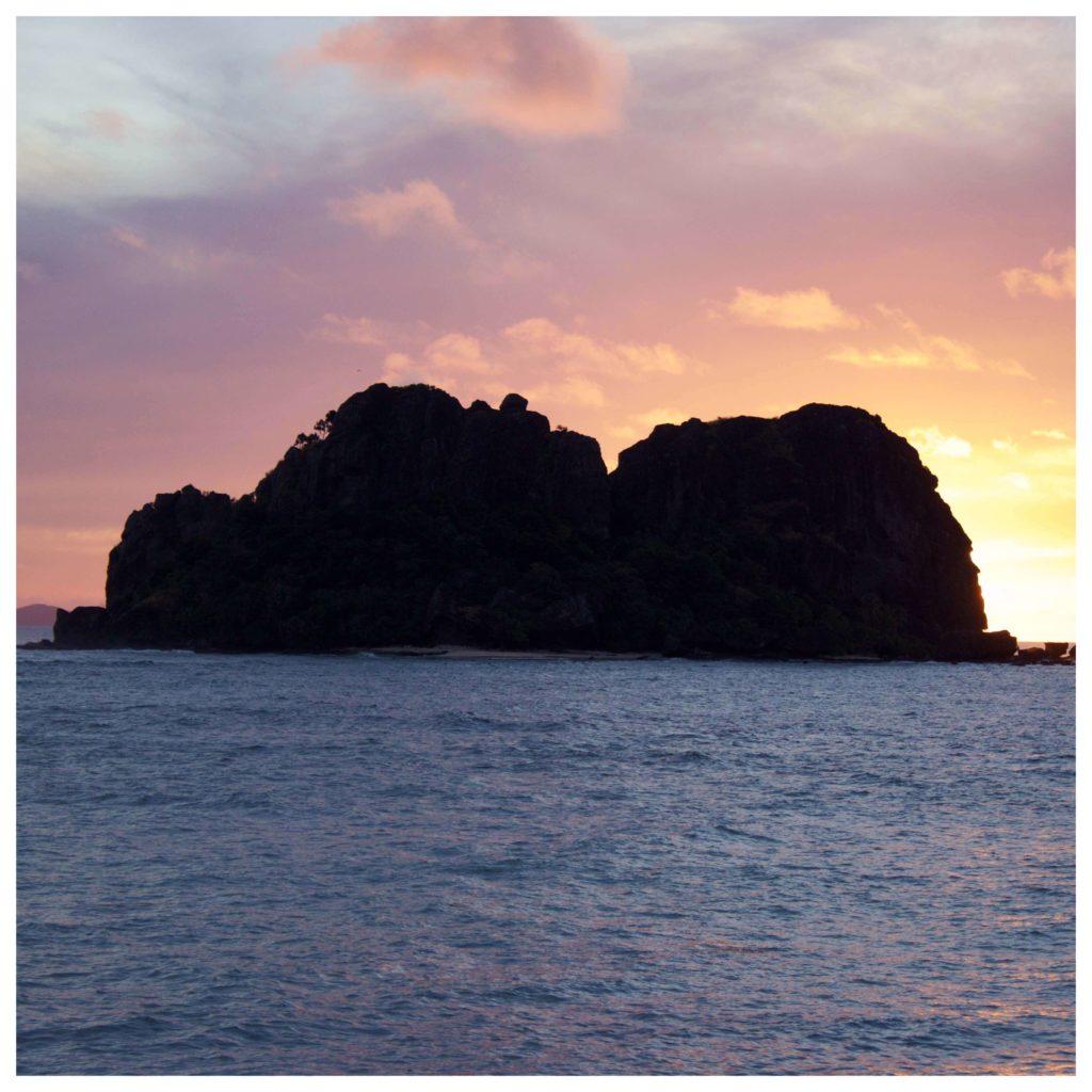 Vomo Island sunset view