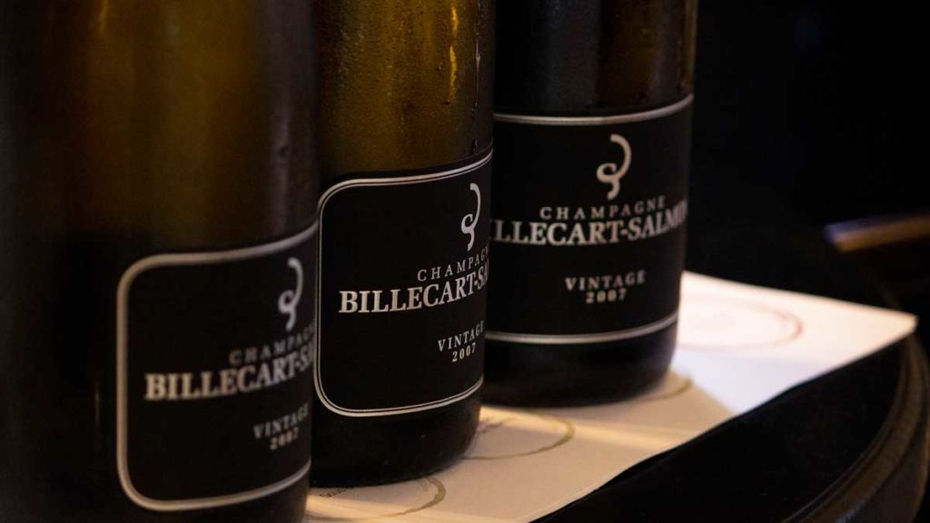 Champagne Billecart-Salmon 07 Extra Brut at Dhall & Nash Neo masterclass