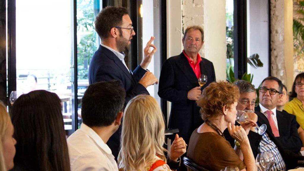 Champagne Billecart-Salmon Brand Ambassador Sebastien Papin at Dhall & Nash Neo masterclass