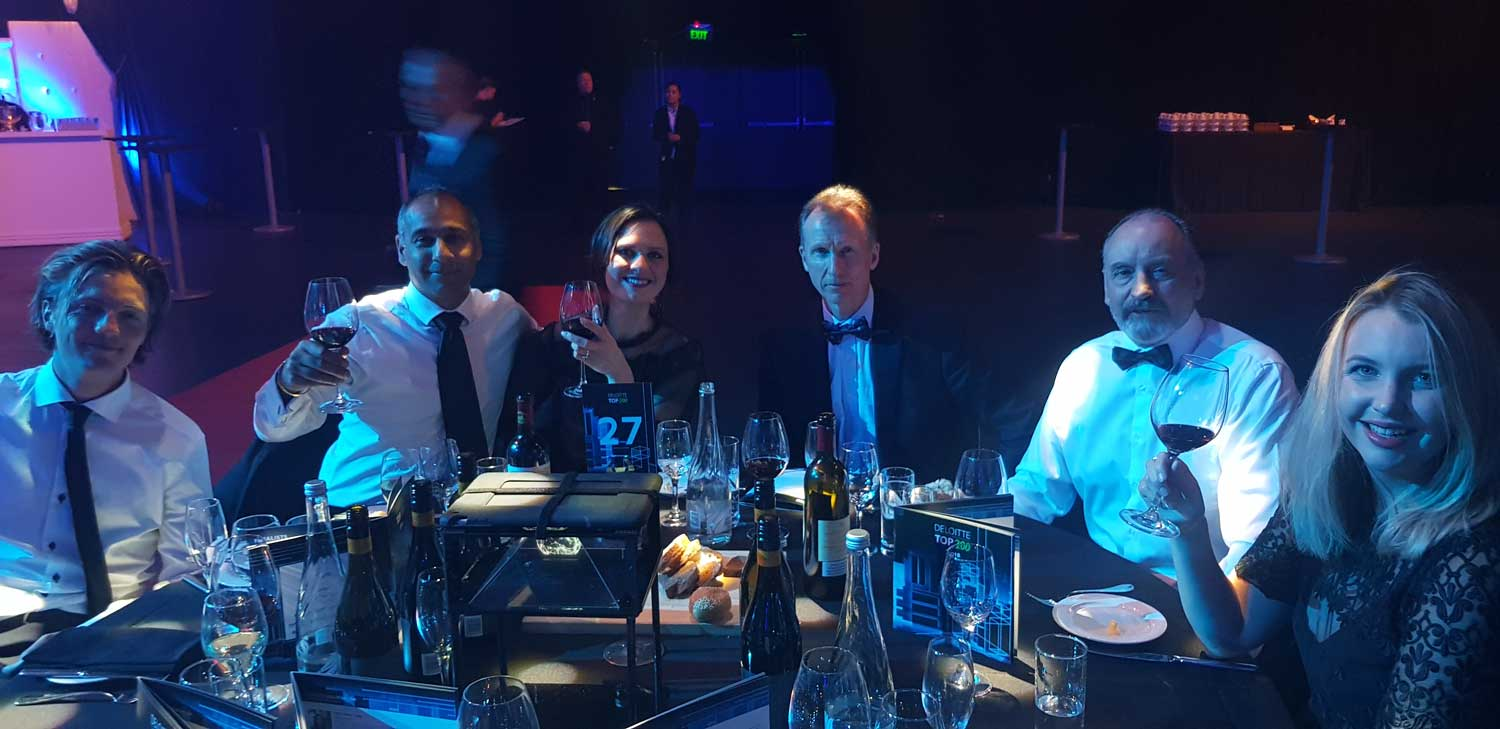 Dhall and Nash team at Deloitte Awards