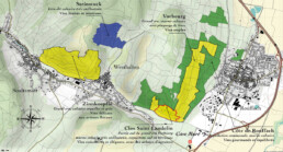 Map of Domaine Mure's vineyards