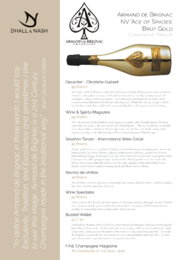 NV Armand de Brignac Brut Gold Ace of Spades Tech Sheet
